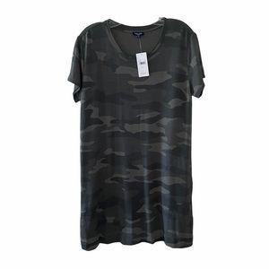 NWT Splendid Camo Print T-Shirt Dress Sml
